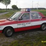 BMW 520/6 NEF mit Türbeschrifrung von der Seite zu sehen