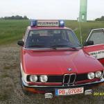 BMW 520/6 NEF von Vorne mit einer alten RTK 4 Anlage auf dem Dach zu sehen